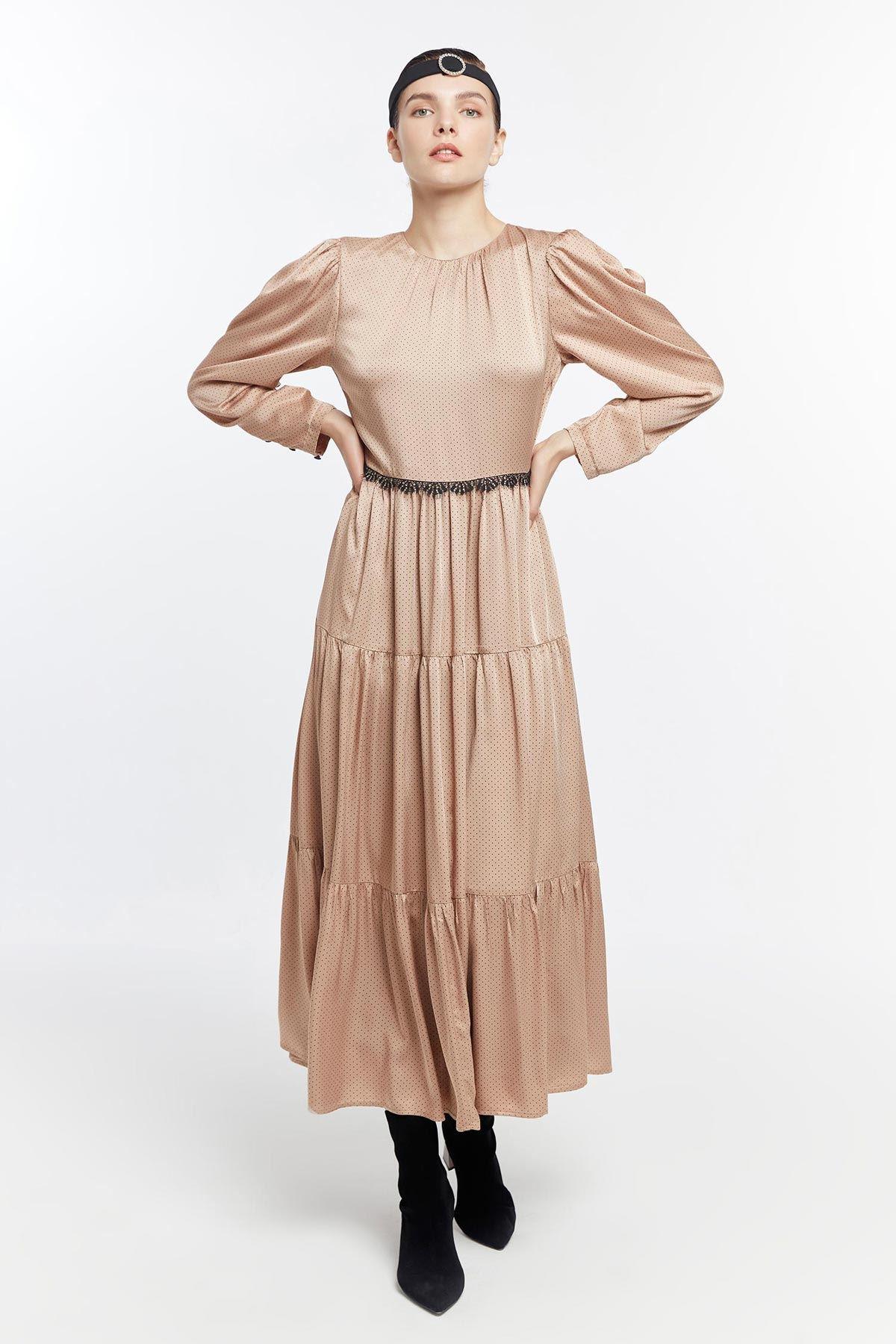 Puantiyeli elbise Vizon