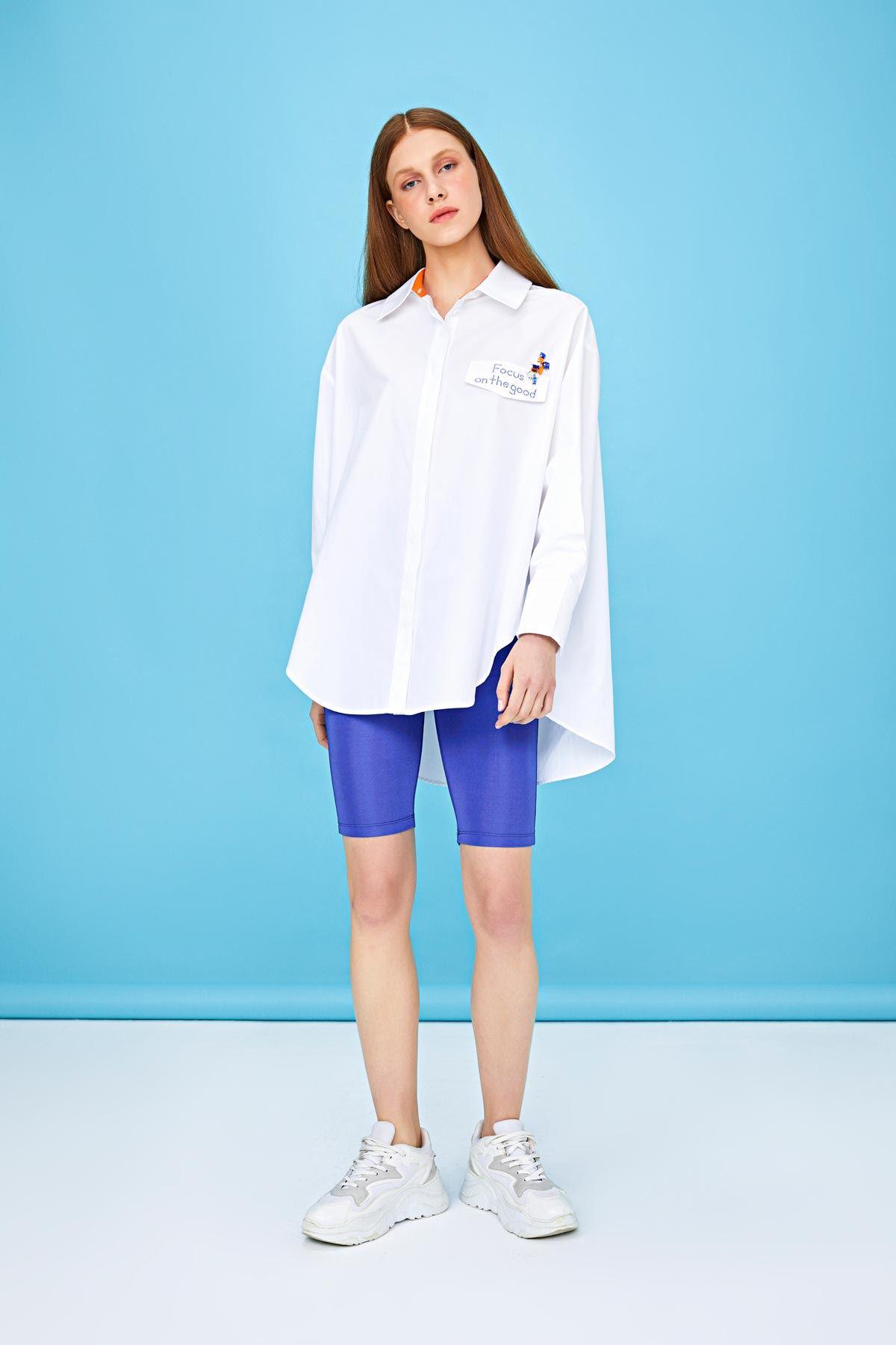 Oversize gömlek Beyaz