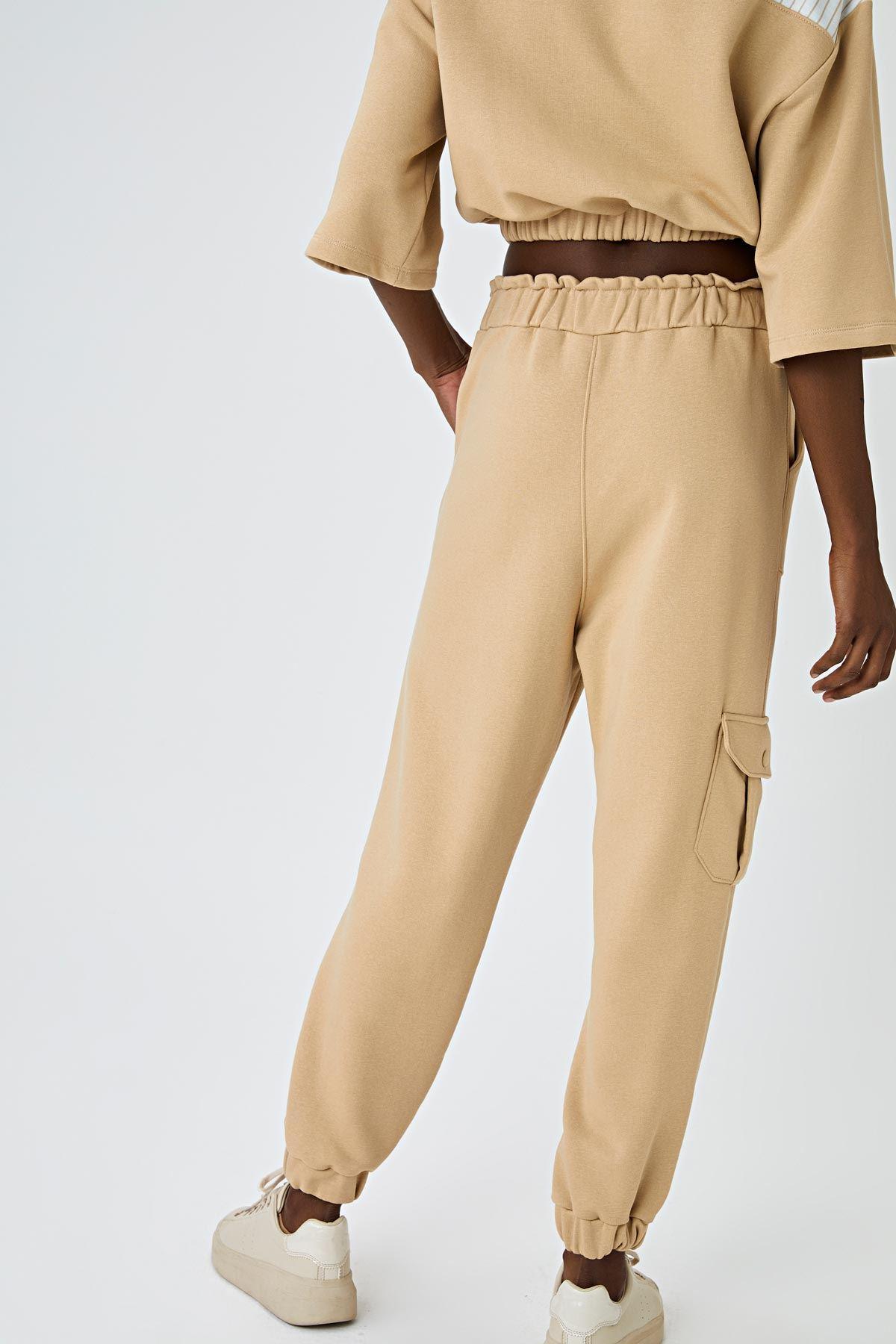 Cepli jogging pantolon Bej