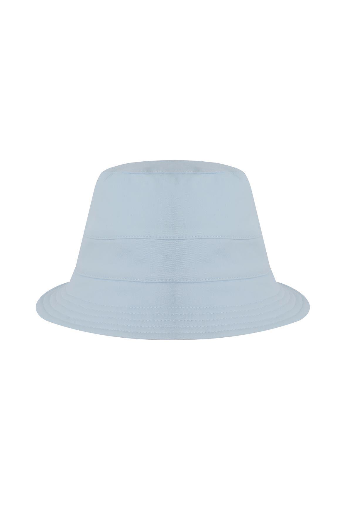 Düz şapka Mavi
