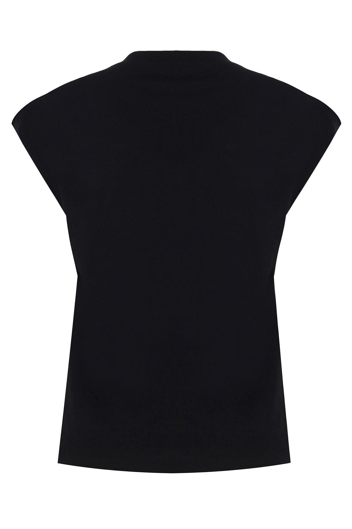 Kaplan desenli t-shirt Siyah